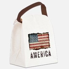 Vintage America Canvas Lunch Bag