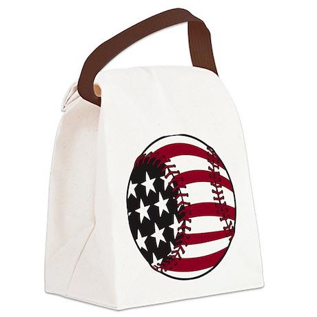 America Baseball Canvas Lunch Bag