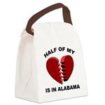Heart In Alabama Canvas Lunch Bag