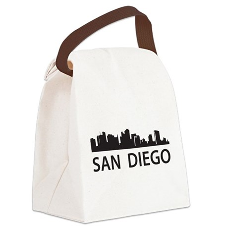 San Diego Skyline Canvas Lunch Bag