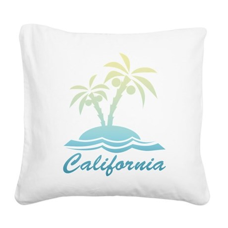 California Square Canvas Pillow