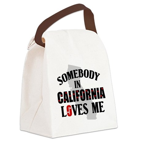 Somebody In California Canvas Lunch Bag