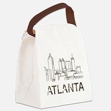 Vintage Atlanta Canvas Lunch Bag