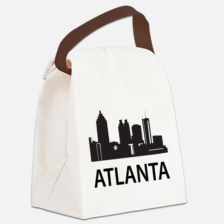 Atlanta Skyline Canvas Lunch Bag