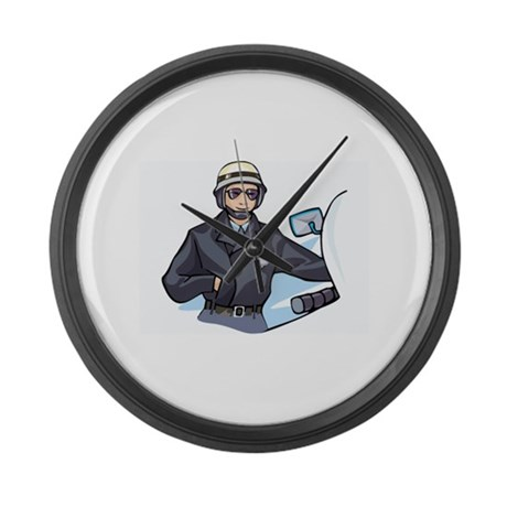 Police Large Wall Clock