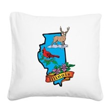 Illinois Square Canvas Pillow