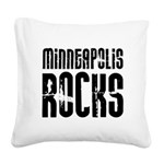 Minneapolis Rocks Square Canvas Pillow