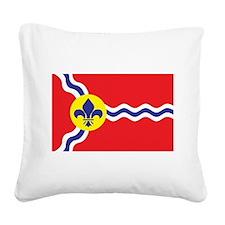 St. Louis Flag Square Canvas Pillow