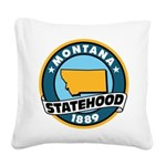Montana Statehood Square Canvas Pillow