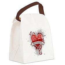 Heart Nebraska Canvas Lunch Bag