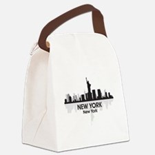 New York Skyline Canvas Lunch Bag