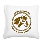 New Yorker Square Canvas Pillow