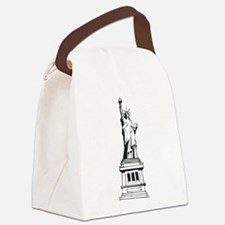 Hand Drawn Statue Of Liberty Canvas Lunch Bag
