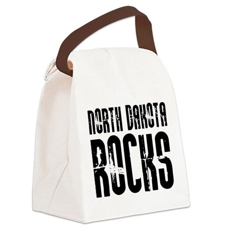 North Dakota Rocks Canvas Lunch Bag