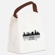Tulsa Skyline Canvas Lunch Bag