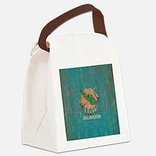Vintage Oklahoma Flag Canvas Lunch Bag