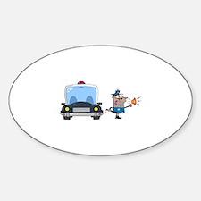 Police Sticker (Oval)