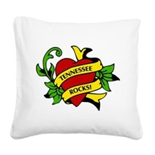 Tennessee Rocks! Square Canvas Pillow