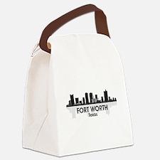 Fort Worth Skyline Canvas Lunch Bag