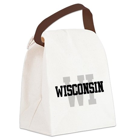 WI Wisconsin Canvas Lunch Bag