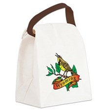 Wyoming Meadowlark Canvas Lunch Bag