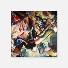 "Wassily Kandinsky Composition VI Square Sticker 3"""