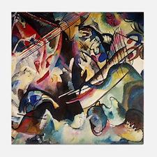 Wassily Kandinsky Composition VI Tile Coaster