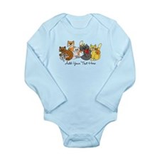 Cats and Kittens Long Sleeve Infant Bodysuit