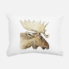 moose drawing Rectangular Canvas Pillow