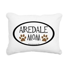 airedale mom two paws.png Rectangular Canvas Pillo