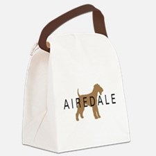 airedale dog text.png Canvas Lunch Bag