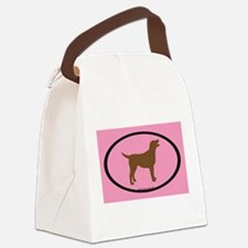 Cute Labrador bumper Canvas Lunch Bag