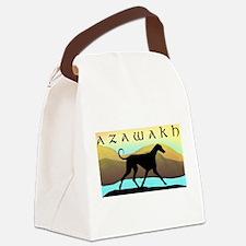 azawakh by the sea wdtxt2.jpg Canvas Lunch Bag