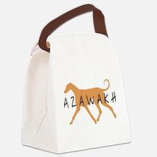 azawakh txtblk.png Canvas Lunch Bag