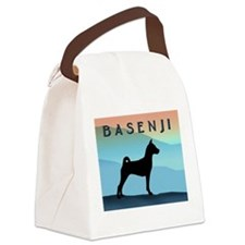 Blue Mountains Basenji Canvas Lunch Bag