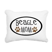 beagle mom oval.png Rectangular Canvas Pillow