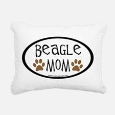 beagle mom oval.png Rectangular Canvas Pillow