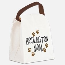 bedlington mom.png Canvas Lunch Bag