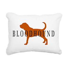 bloodhound basic text.png Rectangular Canvas Pillo