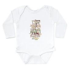I AM Affirmations Long Sleeve Infant Bodysuit