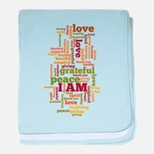 I AM Affirmations baby blanket