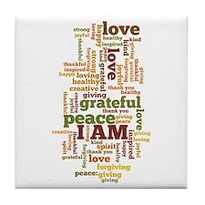 I AM Affirmations Tile Coaster