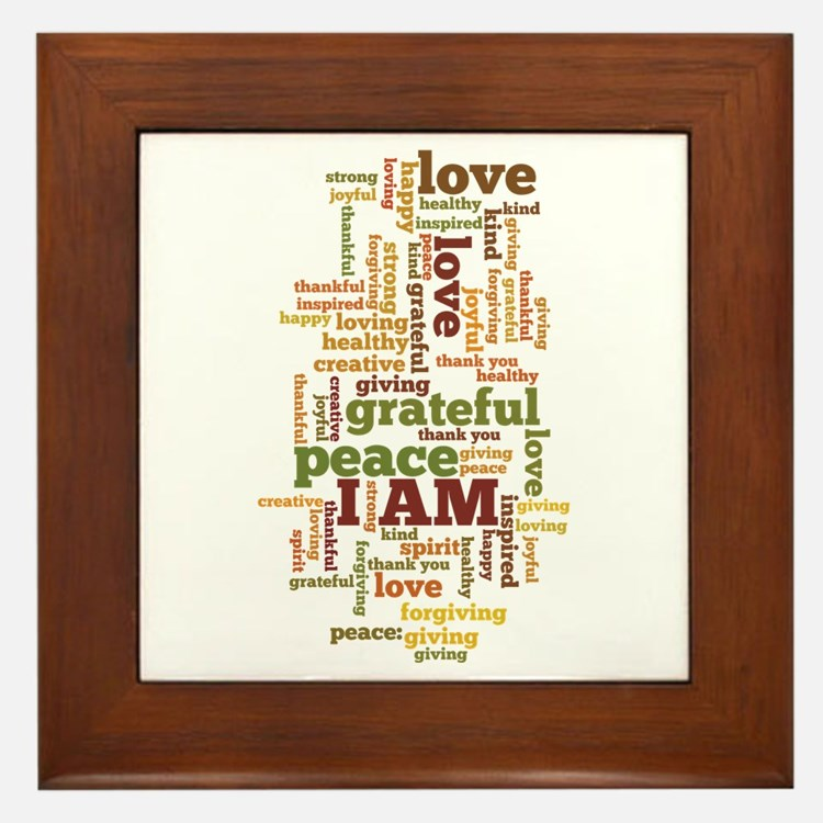 I AM Affirmations Framed Tile