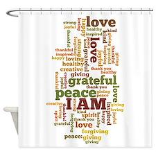 I AM Affirmations Shower Curtain