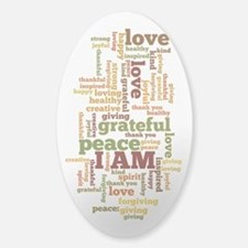 I AM Affirmations Sticker (Oval)