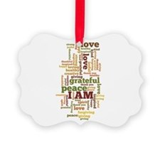 I AM Affirmations Picture Ornament