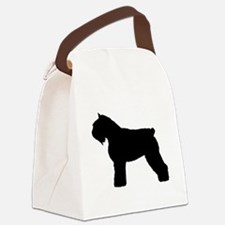bouvier des flandres white.png Canvas Lunch Bag