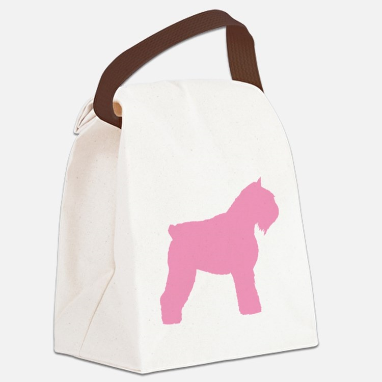bouvier pink.png Canvas Lunch Bag