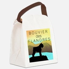 by the sea bouvier orn.jpg Canvas Lunch Bag