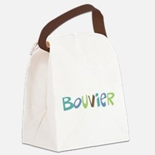 color text bouvier a.png Canvas Lunch Bag